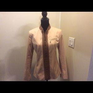 Dana Bachman Jacket with Soft leather trim.